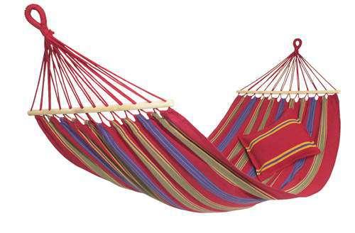 Amazonas Aruba cayenne, houpací síť s tyčemi