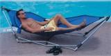 Deluxe portable hammock blue
