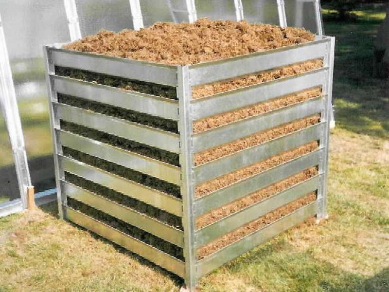 Kompostér K 21 zinkovaný plech (š/d/v): 109 x 109 x 100 cm