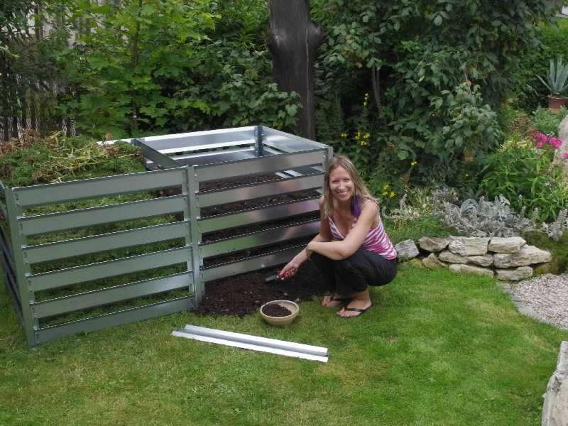 Rozšiřovací modul pro kompostér K 11 zinkovaný plech (š/d/v): 91 x 91 x 85 cm
