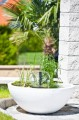 Zvětšit fotografii - Vodní zahrada sada 75 x 75 x 30 cm, kulatá bílá