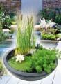 Vodní zahrada sada 75 x 75 x 30 cm, kulatá černá