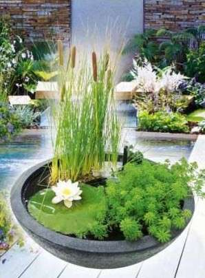 Heissner Vodní zahrada sada 75 x 75 x 30 cm, kulatá černá