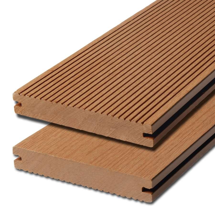WPC terasová prkna Biwood Pro Teak, F - jemná drážka / hladký