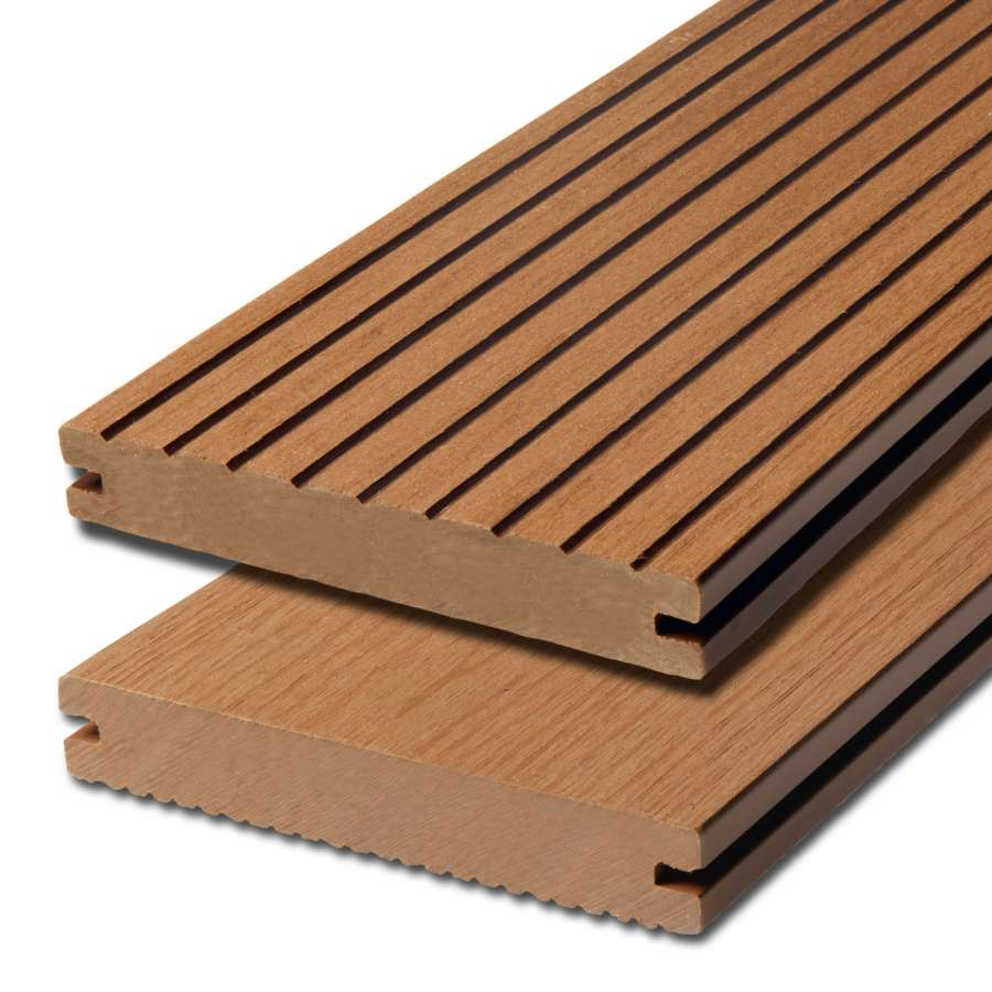 WPC terasová prkna Biwood Pro Teak, G - hrubá drážka / hladký
