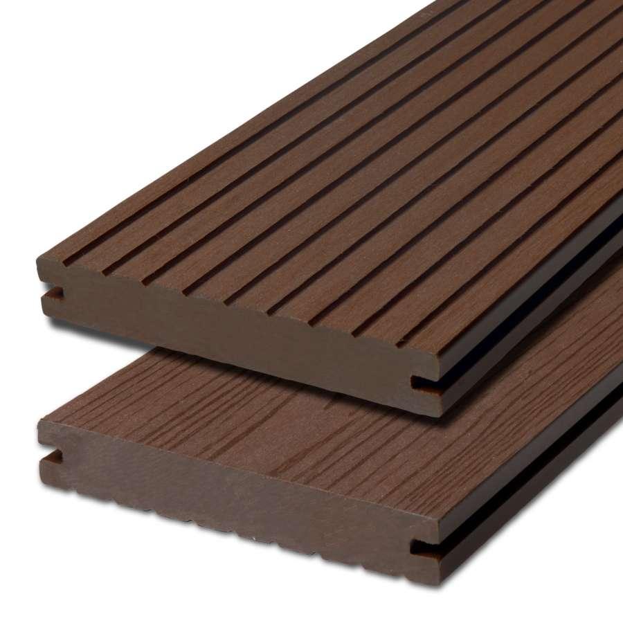 WPC terasová prkna Biwood Pro Wenge, G - hrubá drážka / hladký
