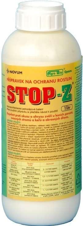 Agro Bio Stop Z - 1 l přírodní repelent proti okusu a ohryzu dřevin AgroBio Opava