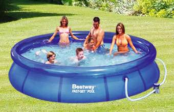 Bestway Bazén rodinný 366x76 cm sada s kartušovou filtrací