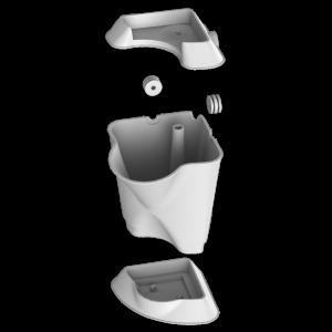 Quizcamp Minigarden rohový set květináčů 1x vertikální modul a podložka