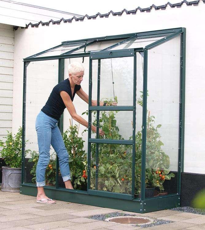 Vitavia Garden IDA Skleník ke stěně PC 4 mm, zelený