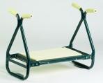 Zahradní kovová stolička a klekátko 2v1