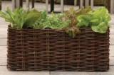 Zvětšit fotografii - Truhlík proutěný přírodní na pěstování salátů