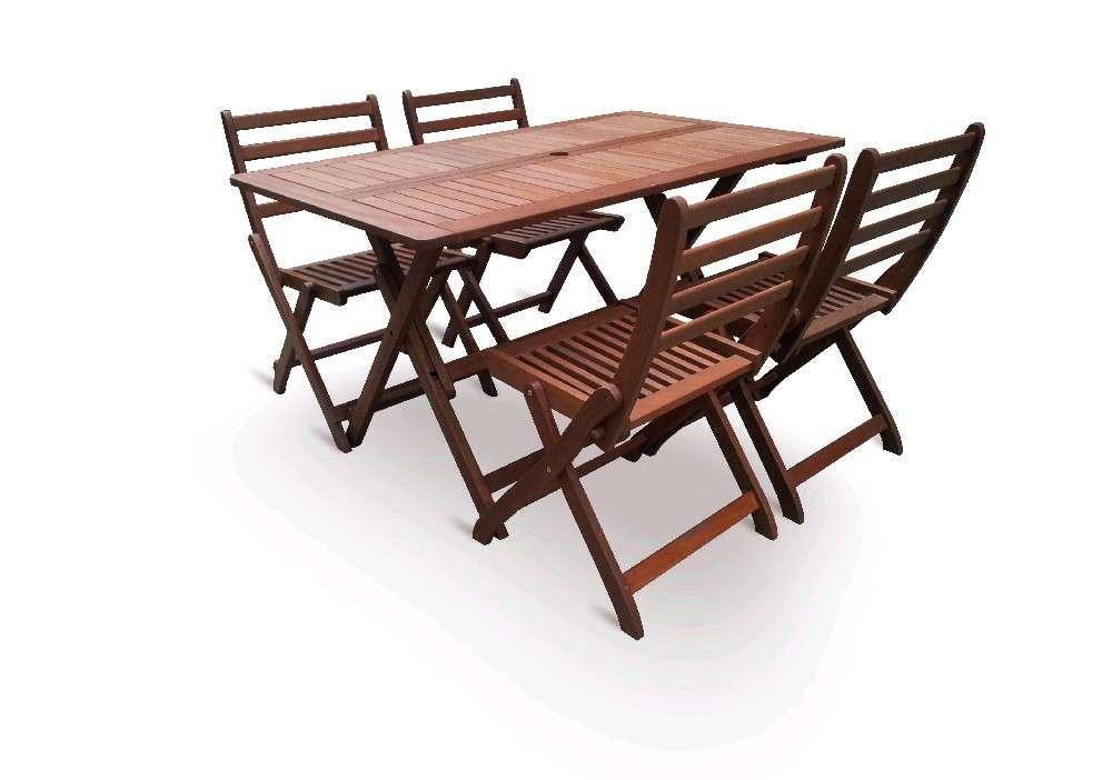 VeGA set 4, stolová skládací sestava, dřevo meranti, dárek V-GARDEN