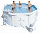 Bazén rodinný POSEIDON s konstrukcí 366x122cm šedý s pískovou filtrací