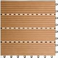 WPC Terasová dlaždice BET, přímková wood