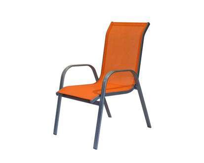 HAPPY GREEN Zahradní židle s textilním výpletem