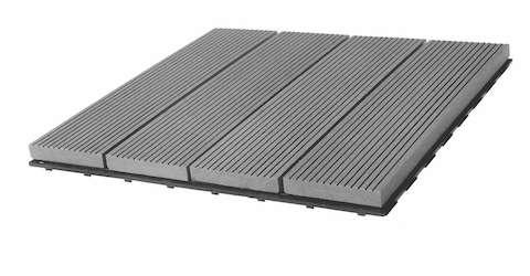 Biwood® Terasová WPC dlaždice Silver grey 300 x 300 mm Terrasystems