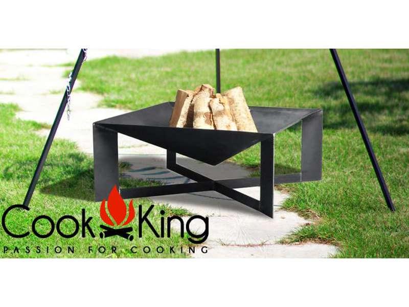 Cook King Přenosné ohniště Cuba 70 x 70 cm