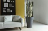 Elho Květináč Pure Round High, pro venkovní i vnitřní použití, UV odolný