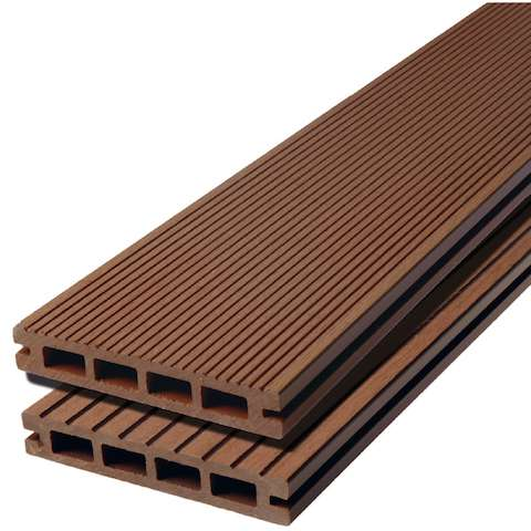WPC terasová prkna Biwood light Bangkirai jemná drážka / hrubá drážka