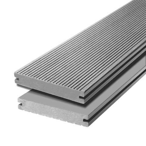 WPC terasová prkna Biwood Pro Silver grey, F - jemná drážka / hladký