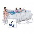 Bazén s konstrukcí 2,87 x 2,01 x 1 m s kartušovou filtrací a bazénovým vysavačem