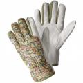 Dámské zahradní,kožené rukavice Julia zelené