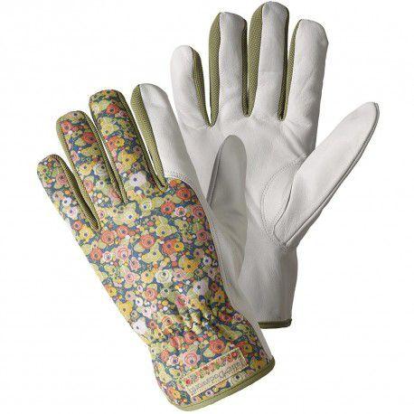Dámské kožené zahradní rukavice Julia zelené