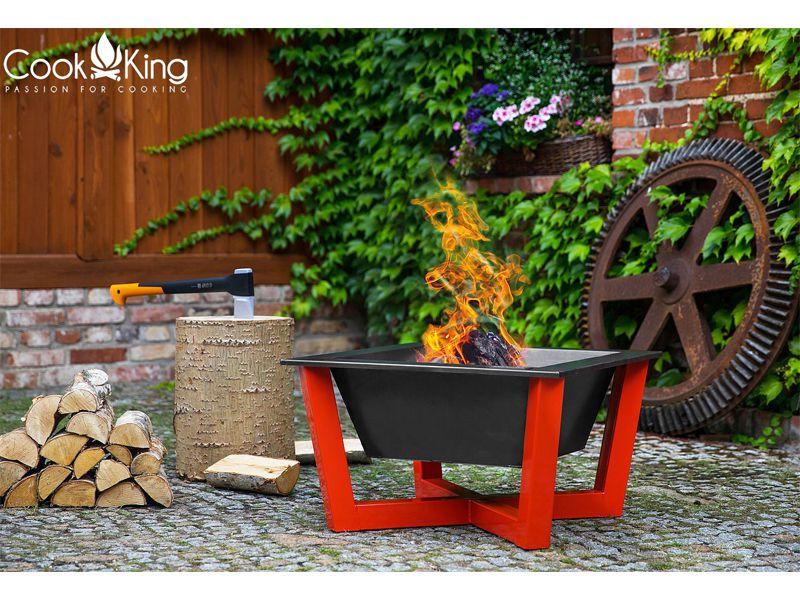 Cook King Ohniště Brasil červené 70cm