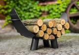 Stojan na dřevo MILA 80x43cm