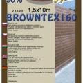 Stínovka - Browntex, výška 1,5x10 m, 90% stínění