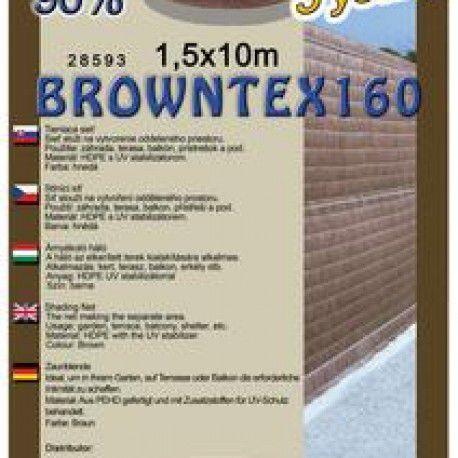 Browntex stínovka, výška 1,8x10 m, 90% stínění