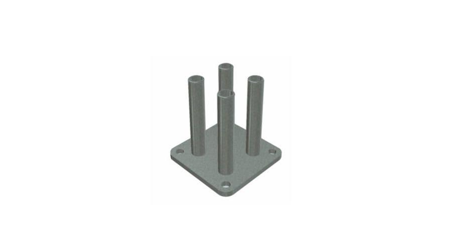 NORTENE BASFIX FLOOR upevňovací element na podlahu, 10 x 10 x 12,5 cm