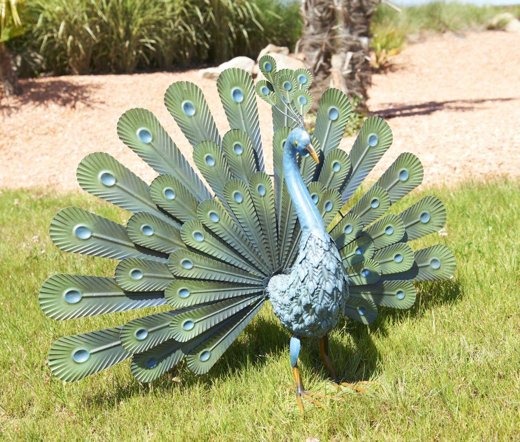 Nortene Dekorativní zahradní páv kov 80cm