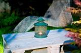 Nortene Zahradní kovová skleněná lucerna FIDJI