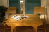 Kolekce Patioteck - 4 židle, rozkládací stůl