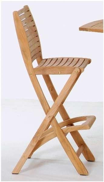 Les Jardins Barová židle celoteaková Sillage