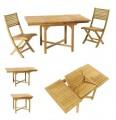 Kolekce Patioteck - 4 židle, rozkládací stůl Les Jardins