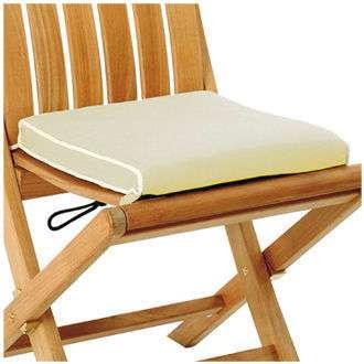 Polštář-sedák k židli Sillage přírodní Les Jardins
