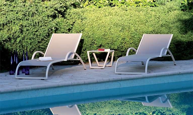 Hliníkové lehátko GRECE, batyline šedý Les Jardins
