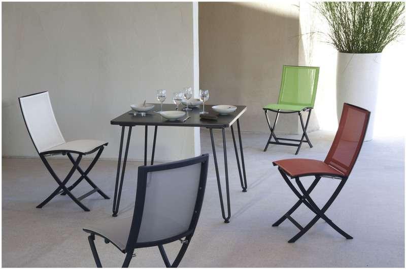 Les Jardins Stůl 90x90x74 se 4 sklopnými nohami CACAO