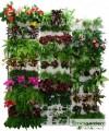 Quizcamp Minigarden - vertikální set 1x vertikální modul s podložkou na květiny, jahody, bylinky