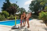 GF Solární sprcha Sunny Style Premium modrá G.F.