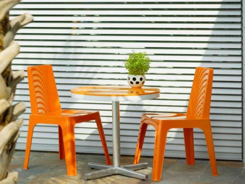 Zahradní stolek kulatý H20 ∅60, 70 cm nebo hranatý 70 x 70 cm pro venkovní i vnitřní použití Resol