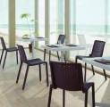 Zahradní set 4 ks židlí NETKAT s průhlednými efekty pro venkovní i vnitřní použití Resol