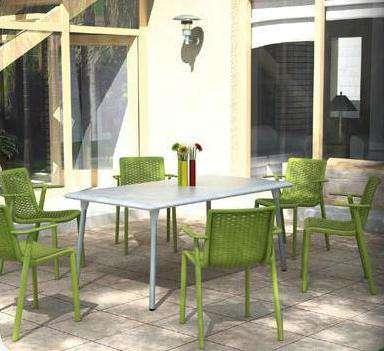 Zahradní set 4 ks křesel NETKAT s průhlednými efekty pro venkovní i vnitřní použití Resol