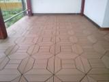 WPC Terasová dlaždice Zámecký vzor, skládaný vzor