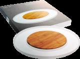 Bambusové prkénko kulaté na porcelánovém tácku Living NUOVA R2S